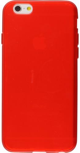 Housse iPhone 6/6s - Gel transparent rouge