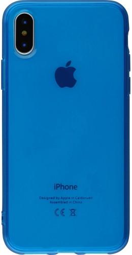 Coque iPhone X / Xs - Gel transparent bleu
