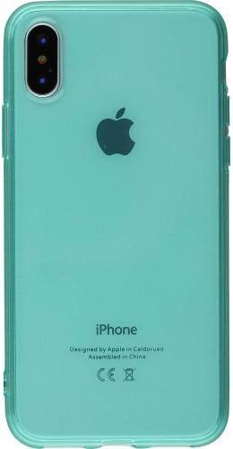 Coque iPhone XR - Gel transparent vert menthe
