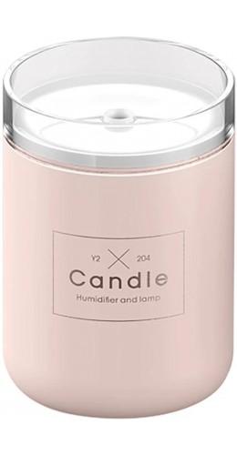 """Humidificateur compact """"Candle"""" - Diffuseur de parfum pour salon / bureau / salle de bain - Rose"""