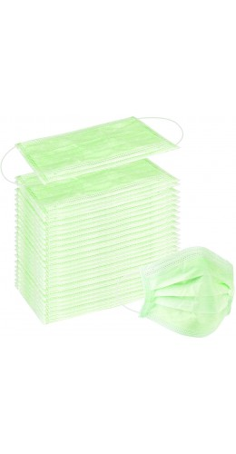Lot de 50 masques chirurgicaux verts