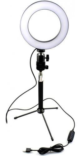 Lumière LED à selfi 16cm téléscopique