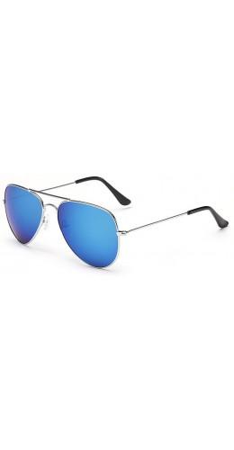 Lunettes style Aviator bleu