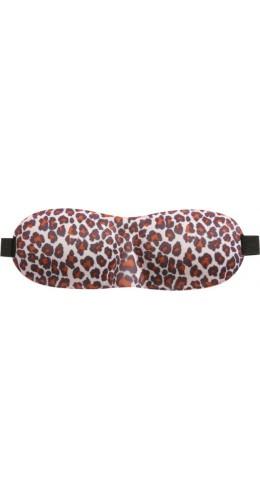 Masque Sommeil 3D en mousse léopard