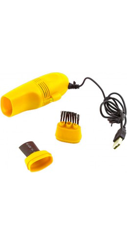 Mini Aspirateur pour Clavier jaune