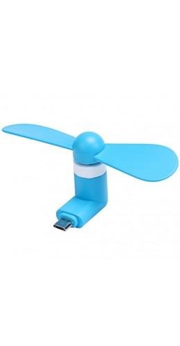 Mini Ventilateur Micro USB bleu