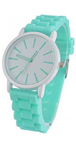 Montre silicone  vert menthe