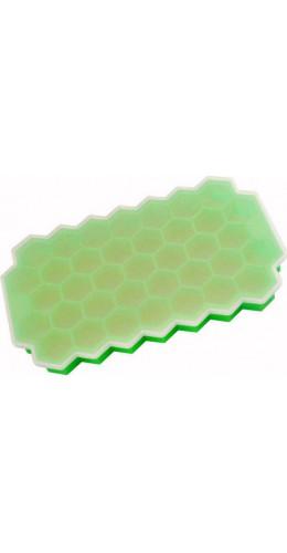 Moule nid d'abeille en silicone pour 37 glaçons souple + couvercle, cocktail, bar, ice-cube - Vert