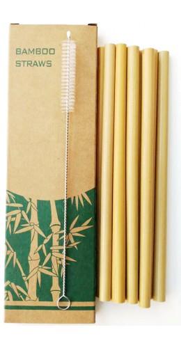 Pailles de bambou (lot de 10)