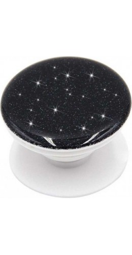 Pop socket 3D Paillettes noir