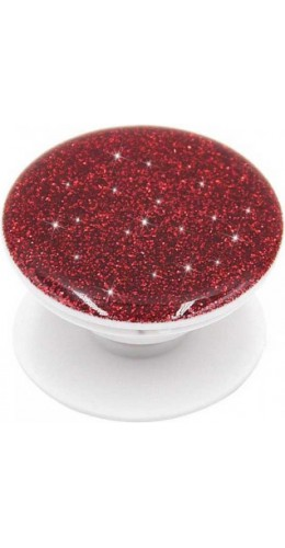 Pop socket 3D Paillettes rouge