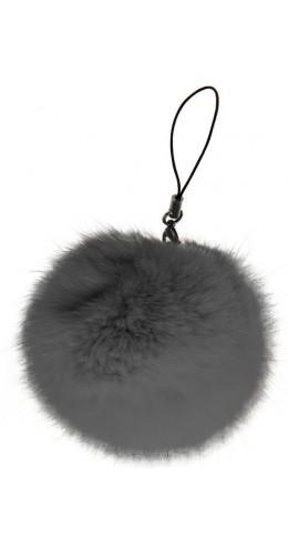 Porte-clés Mini Fluffy gris foncé