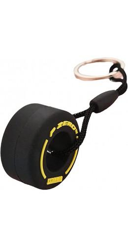 Porte-clés Pneu F1 jaune