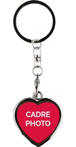 Porte-clés cadre photo coeur