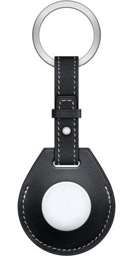 Porte-clés cuir avec cordon noir - AirTag