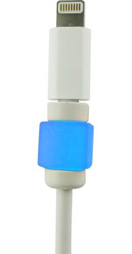 Protège-câble bleu