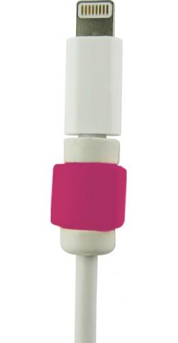 Protège-câble rose foncé