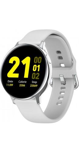WearFit 2.0 - Montre connectée avec écran tactile et programmes de sport - Blanc