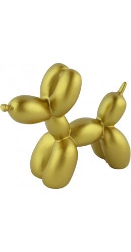 Statue rétro déco créative en forme de ballon / design de chien - Or