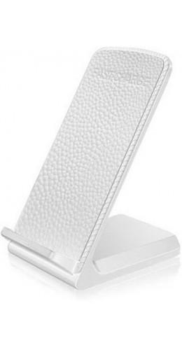 Support de chargement Qi sans-fil Cuir blanc