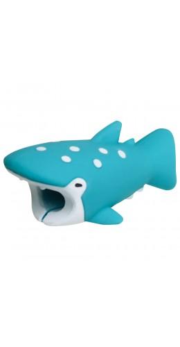 Embout de câble décoratif animal Requin Turquoise