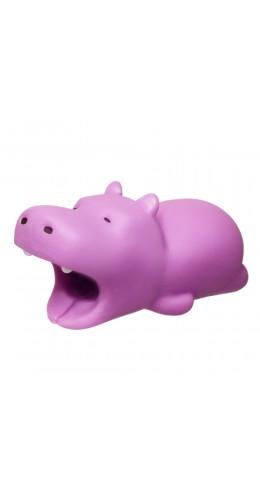 Embout de câble décoratif animal hippopotame