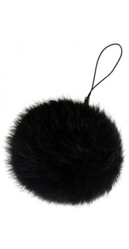 Porte-clés Mini Fluffy noir