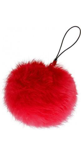 Porte-clés Mini Fluffy rouge