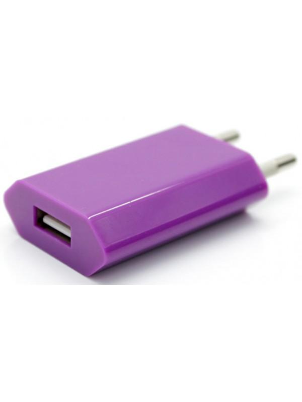 Adaptateur chargeur mur USB violet