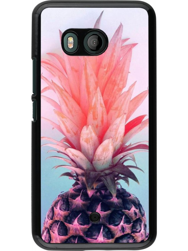 Coque HTC U11 - Purple Pink Pineapple
