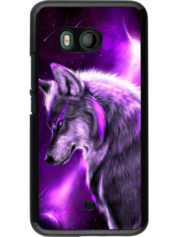 Coque HTC U11 - Purple Sky Wolf