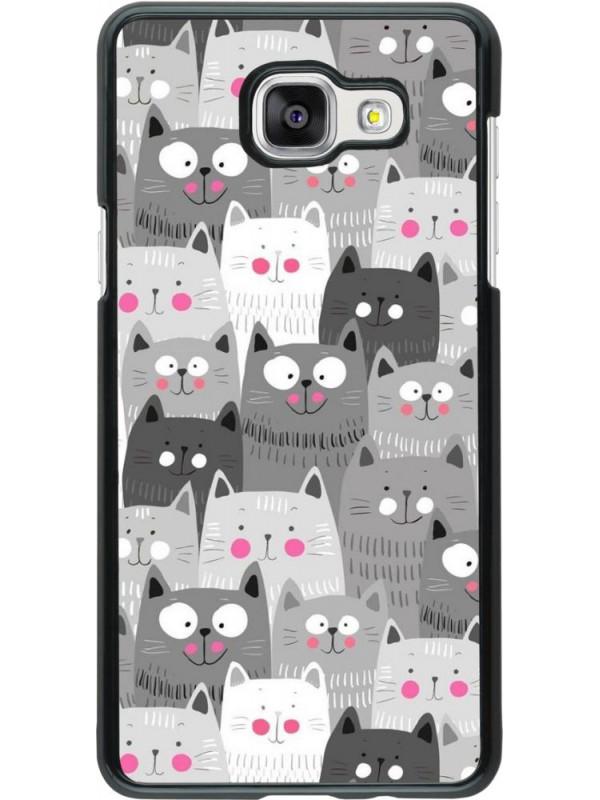 Coque Samsung Galaxy A5 (2016) - Chats gris troupeau
