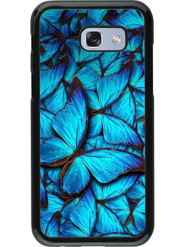 h lle galaxy a5 2017 papillon bleu. Black Bedroom Furniture Sets. Home Design Ideas