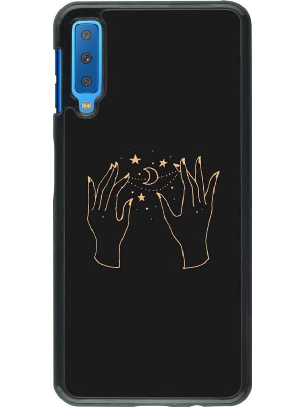 Coque Samsung Galaxy A7 - Grey magic hands