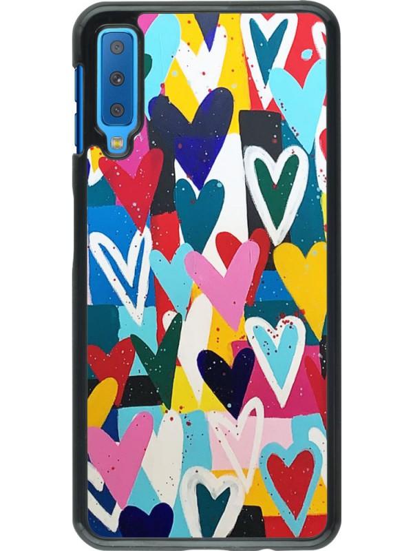 Coque Samsung Galaxy A7 - Joyful Hearts