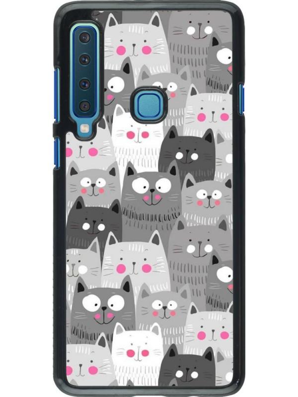 Coque Samsung Galaxy A9 - Chats gris troupeau