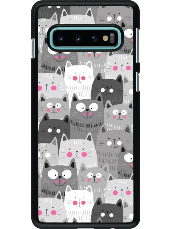 Coque Samsung Galaxy S10 - Chats gris troupeau
