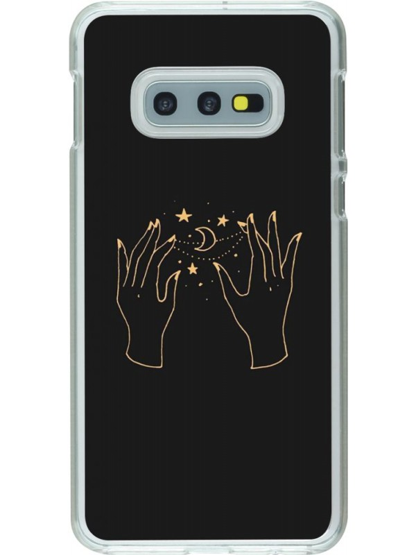 Coque Samsung Galaxy S10e - Plastique transparent Grey magic hands
