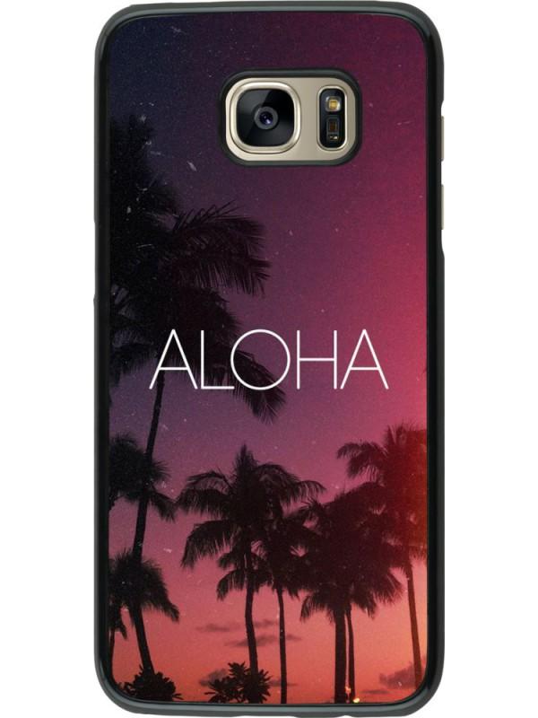 Coque Samsung Galaxy S7 edge - Aloha Sunset Palms