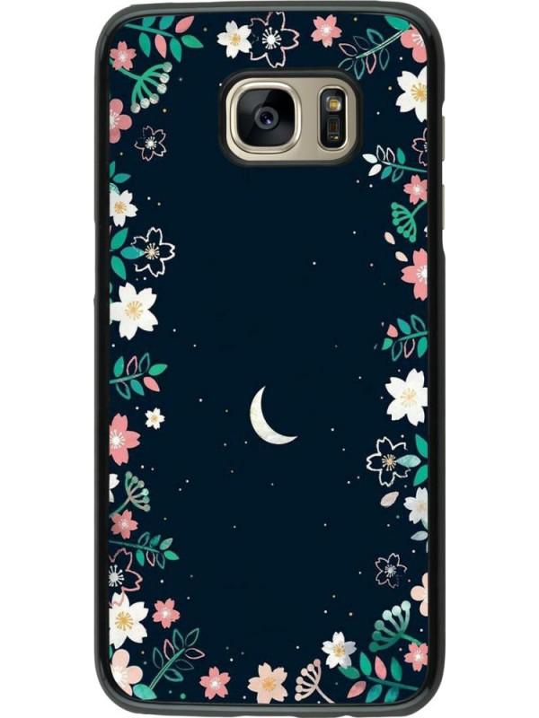 Coque Samsung Galaxy S7 edge - Flowers space
