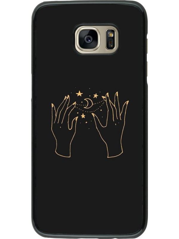 Coque Samsung Galaxy S7 edge - Grey magic hands