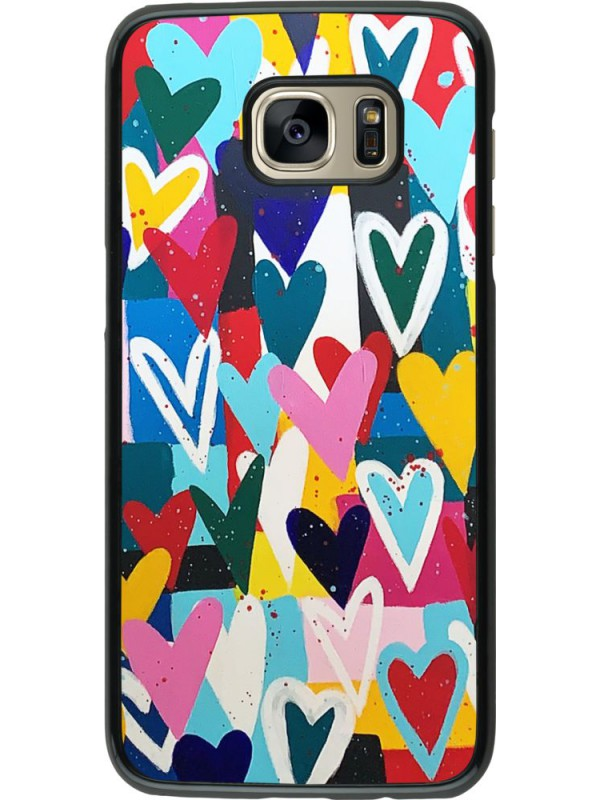 Coque Samsung Galaxy S7 edge - Joyful Hearts