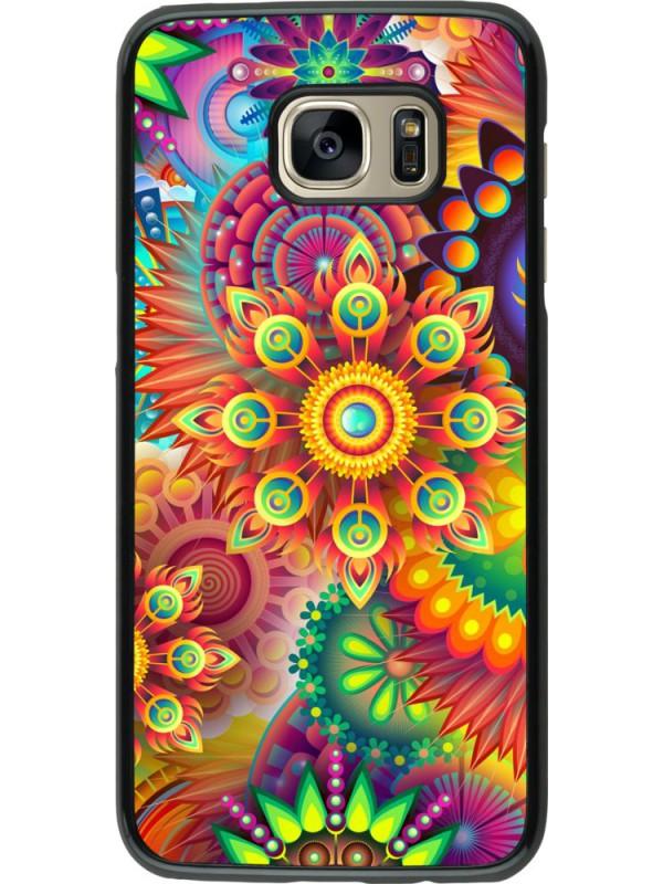 Coque Samsung Galaxy S7 edge - Multicolor aztec