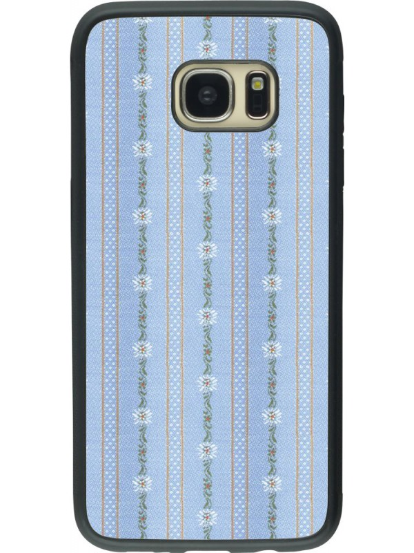 Coque Samsung Galaxy S7 edge - Silicone rigide noir Edelweiss