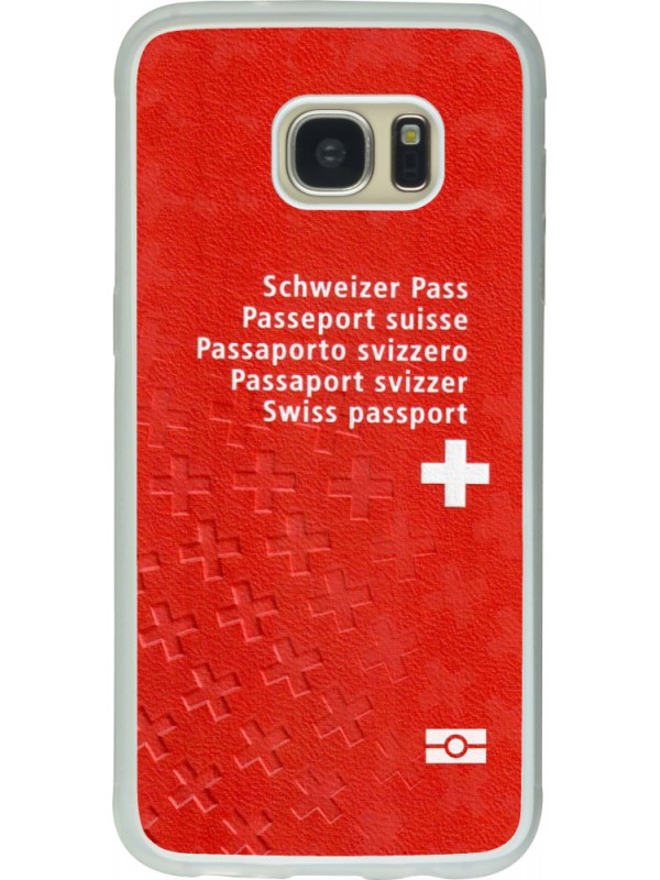 h lle galaxy s7 edge silikon transparent swiss passport. Black Bedroom Furniture Sets. Home Design Ideas