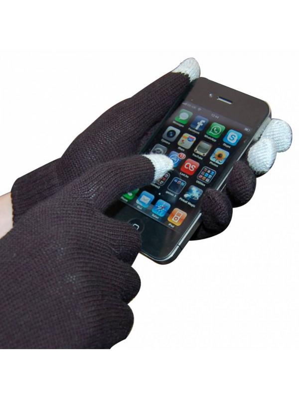 Gants tactiles noirs