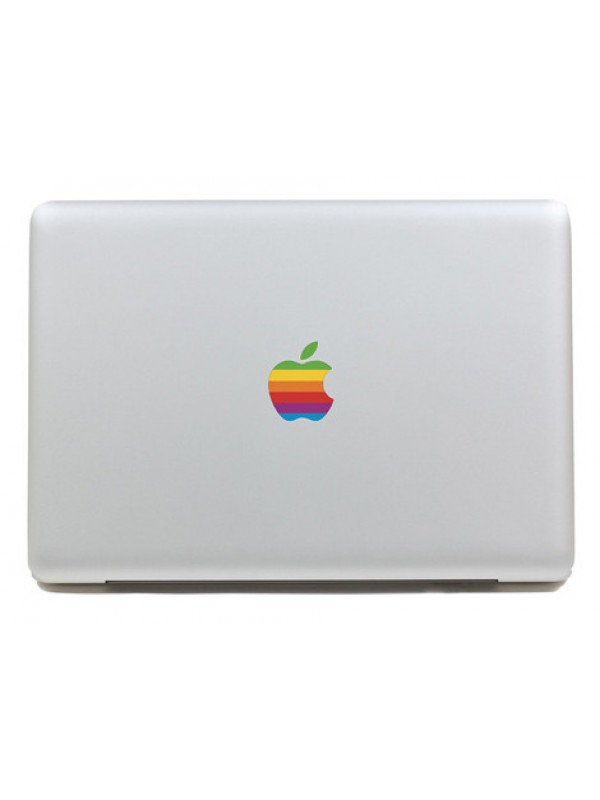 Autocollant MacBook Apple logo vintage