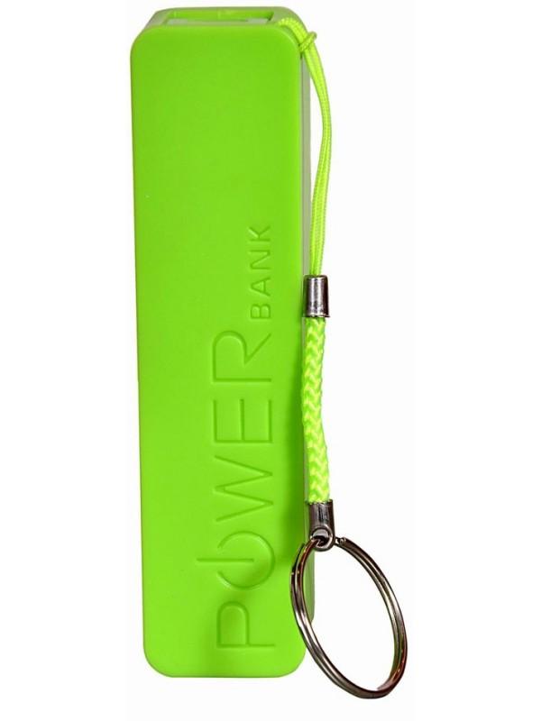 Batterie externe portable Power Bank 2600 mAh vert