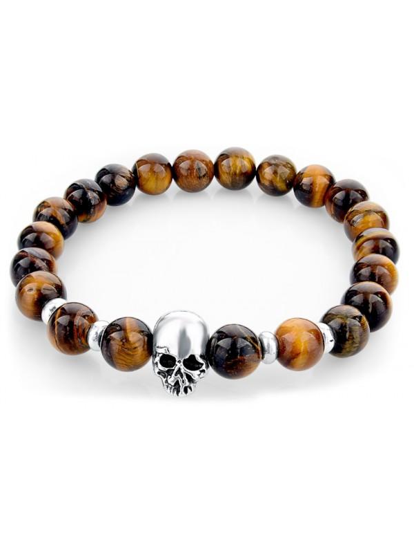 Bracelet Skullbowl brun