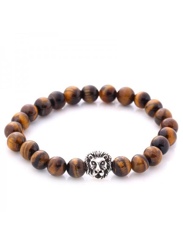 Bracelet lion brun